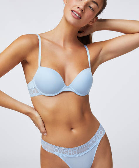 Lightly padded modal bra with logo