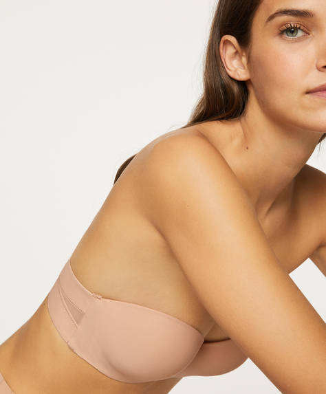Push-up bra with removable straps