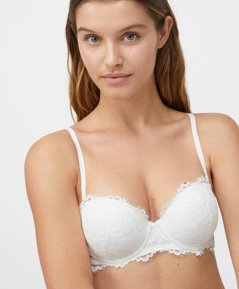 Brasier push up encaje flor