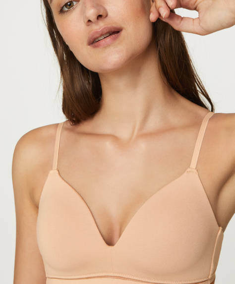 Cotton comfort support bra