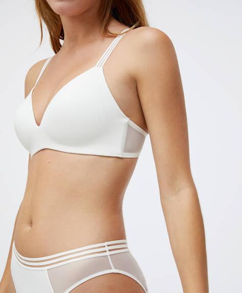 Extra comfort microfibre bra