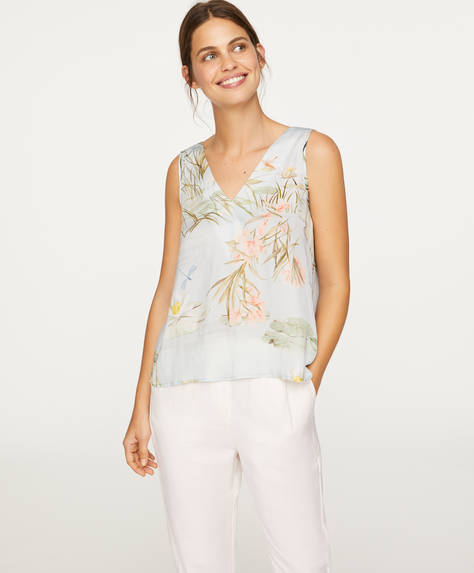 Sleeveless water lily top