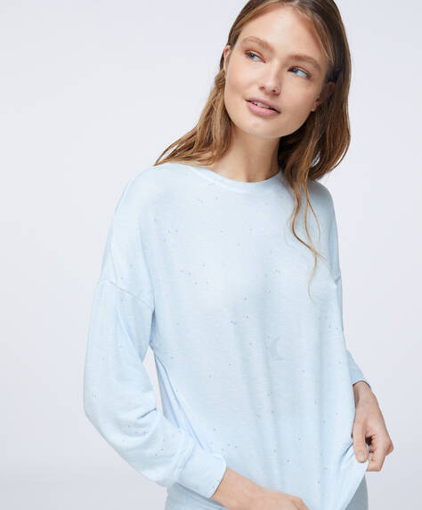 Soft Feel Shirt mit Mondprint