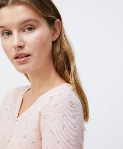 Μπλούζα με λουλουδάκια