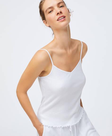 T-shirt de alças básica em algodão relax wear