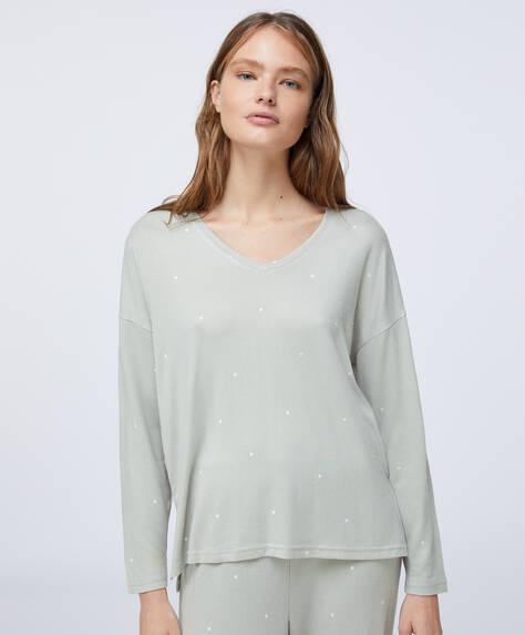 Soft feel green dot T-shirt