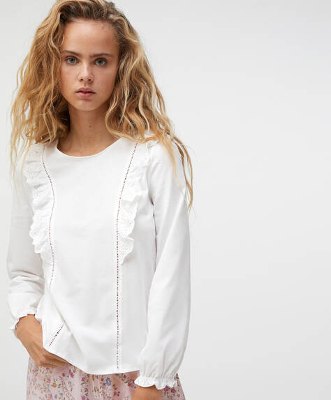 Camiseta 100% algodón bordado