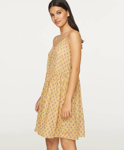 Mustard Indian cotton nightdress
