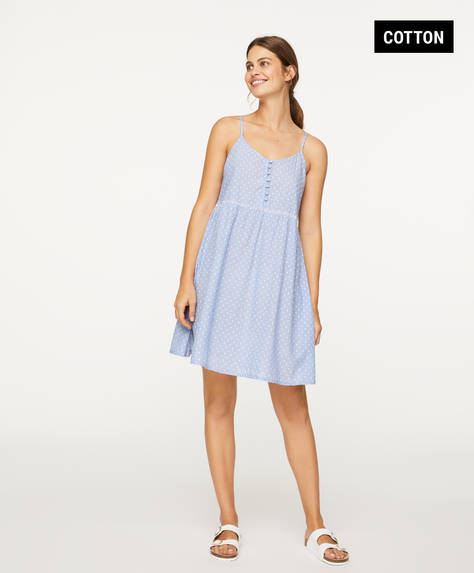 Blue plumeti nightdress
