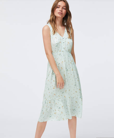 Aqua green ditsy floral nightdress