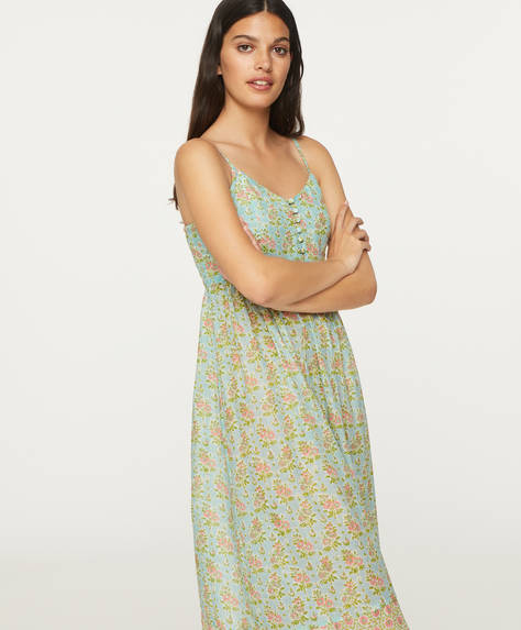Turquoise Indian cotton nightdress