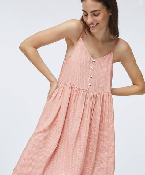 Ditsy dot pink nightdress