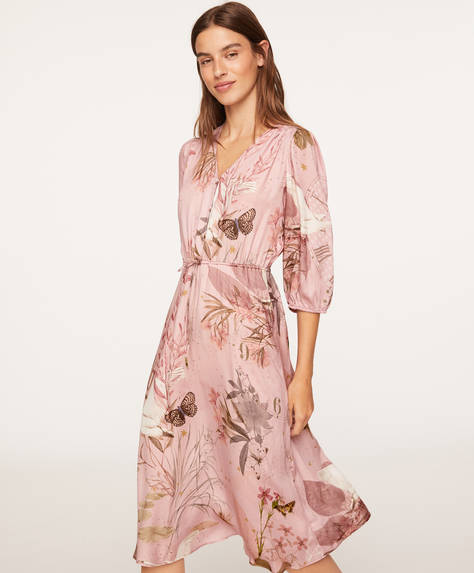Pink swan nightdress