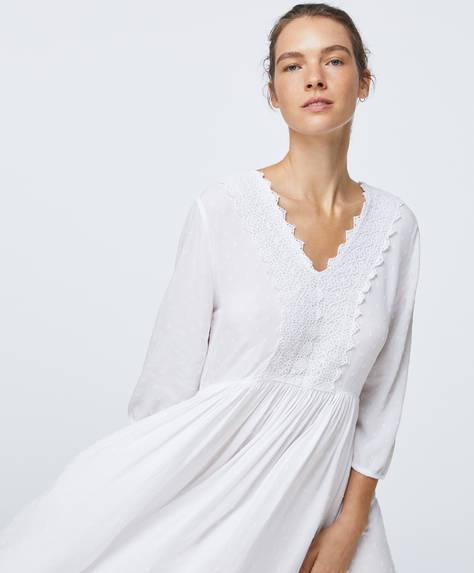 White plumeti tunic