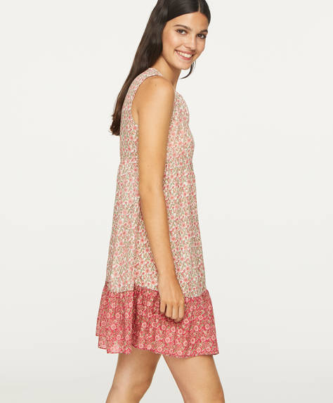 Pink Indian floral cotton nightdress