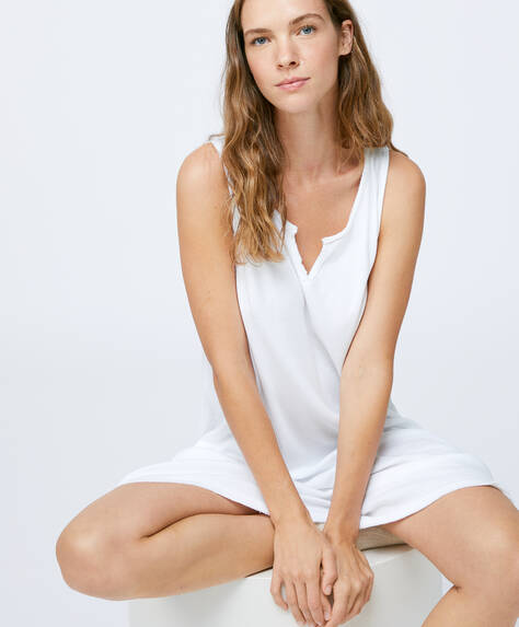 Sleeveless cotton nightdress