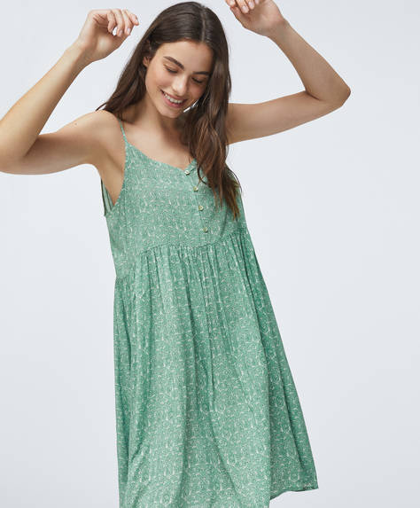 Green print nightdress