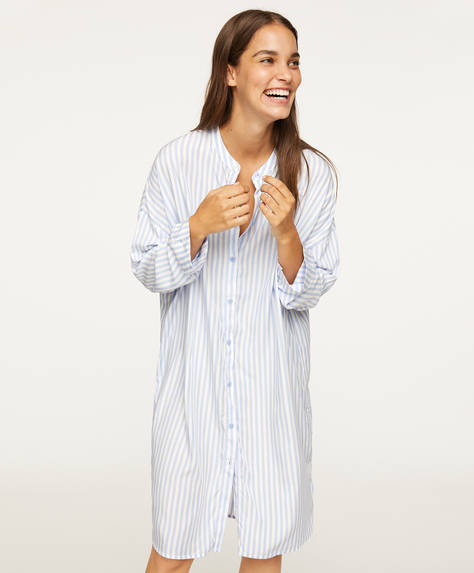 Blue stripe nightdress