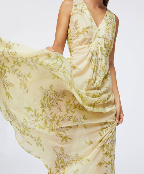 Cotton yellow floral nightdress