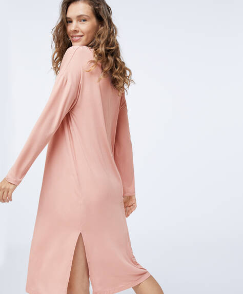 Long pink modal nightdress