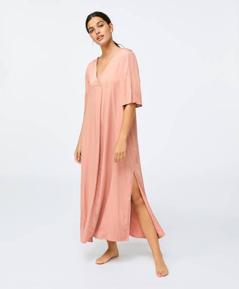 Plain pink kaftan