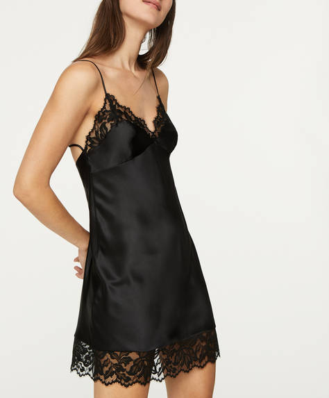 Lace midi nightdress