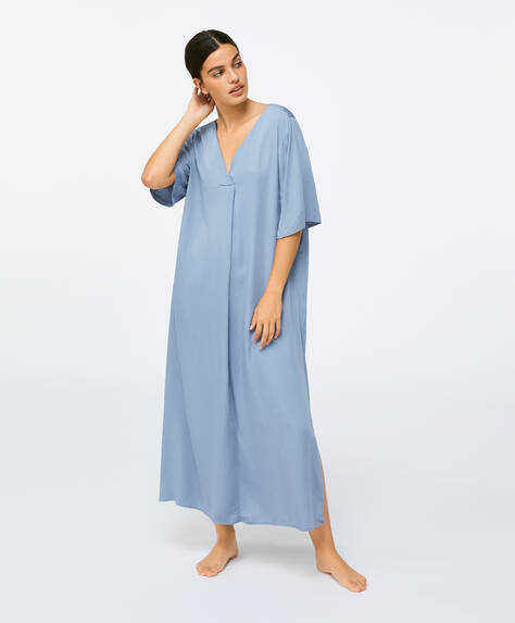 Plain blue kaftan