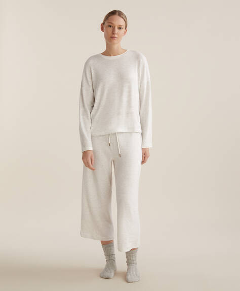 Stribede culotte bukser, comfort feel