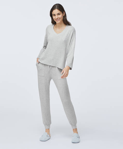 Soft touch cuffed trousers