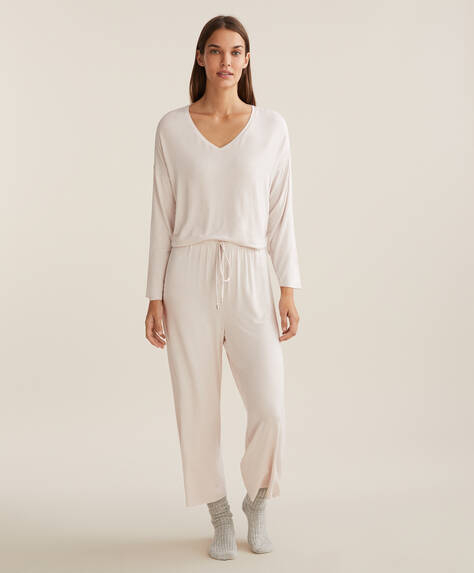 Plain culotte trousers