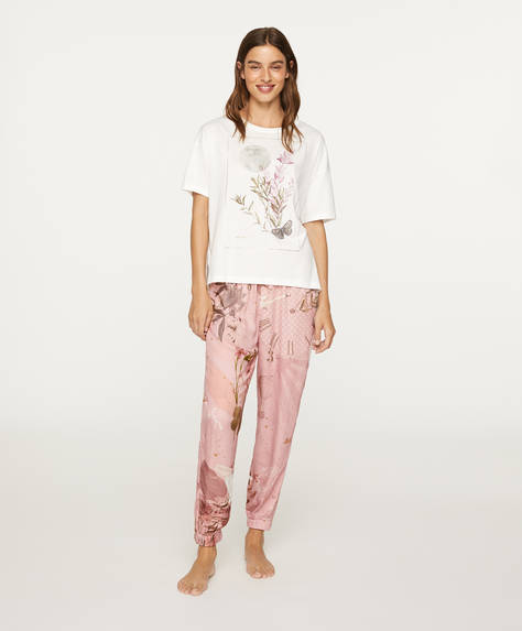 Pantalon cygne rose