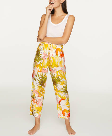 Tropical fruit trousers