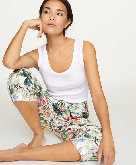 Woodland floral trousers