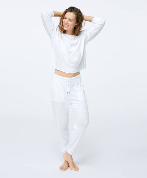 Relax wear plain cotton trousers