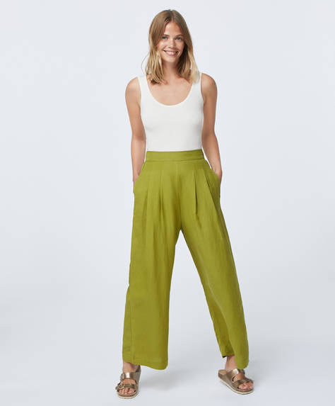 Linen palazzo trousers