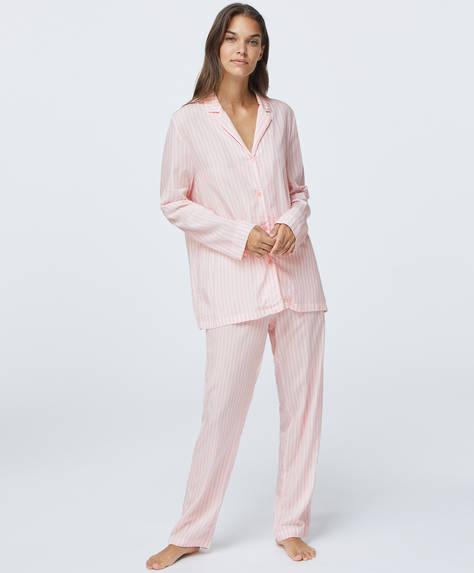 Pantaloni rosa a righe