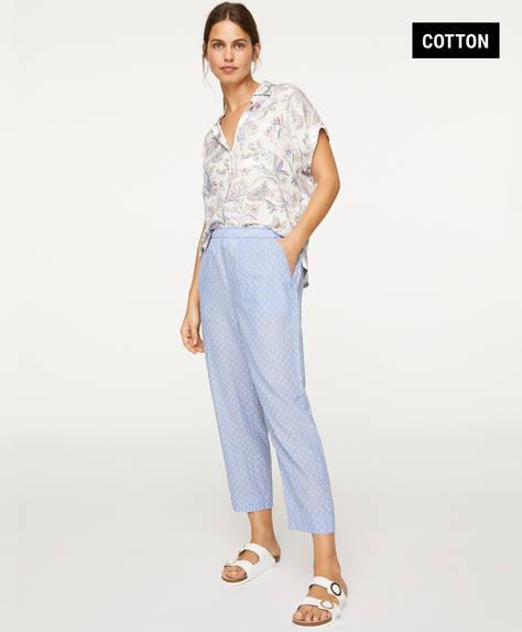 Pantalón plumeti azul