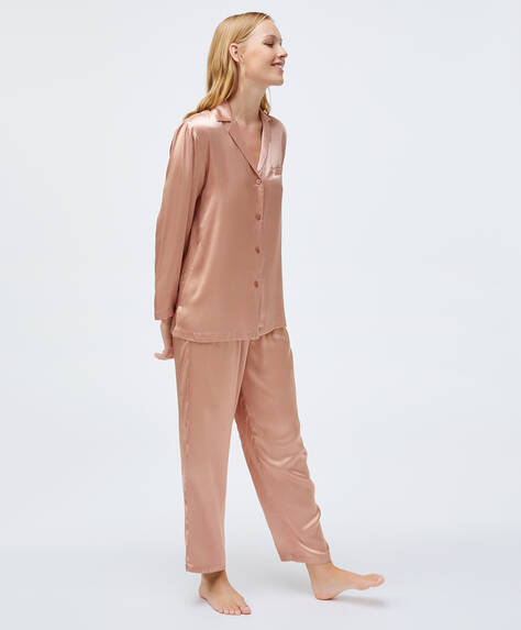 Pink viscose trousers