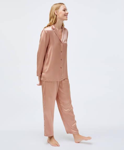 Calça viscose rosa