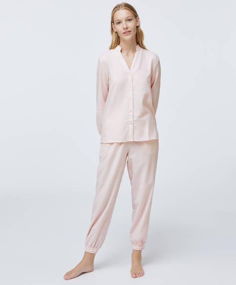 Pantalón 100% algodón rayas