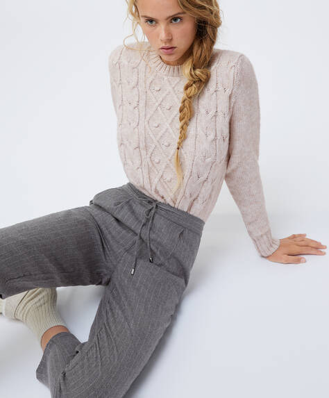 100% cotton pinstripe trousers