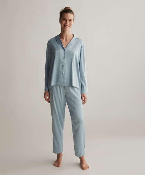 Sky blue heart trousers