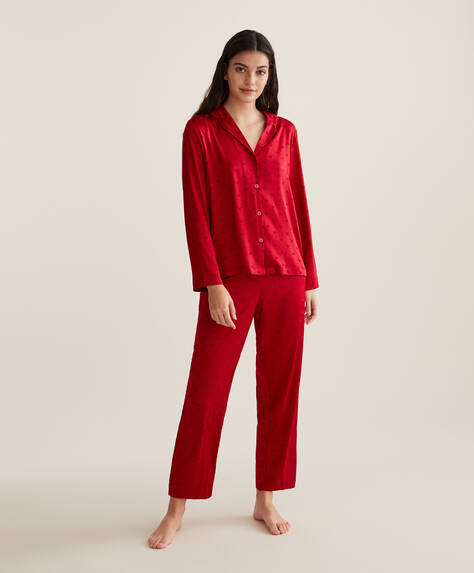 Red heart trousers