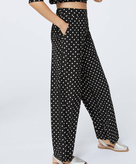 Medium polka dot trousers