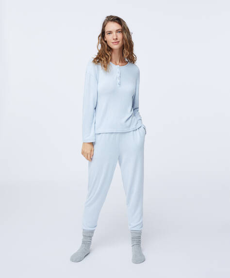 Pantaloni dritti comfort feel