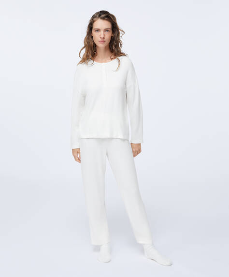 Soft touch straight-leg trousers