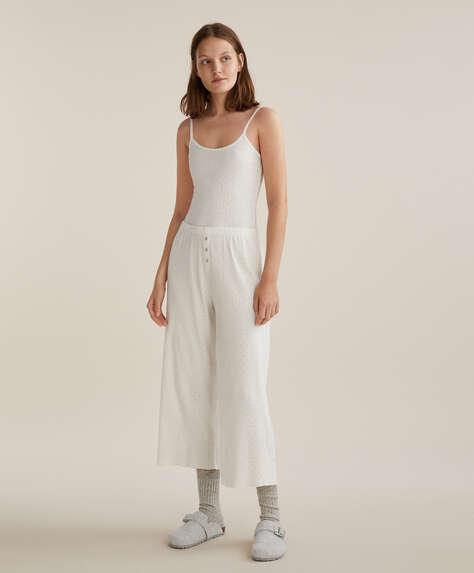 Pantalón culotte desagujado