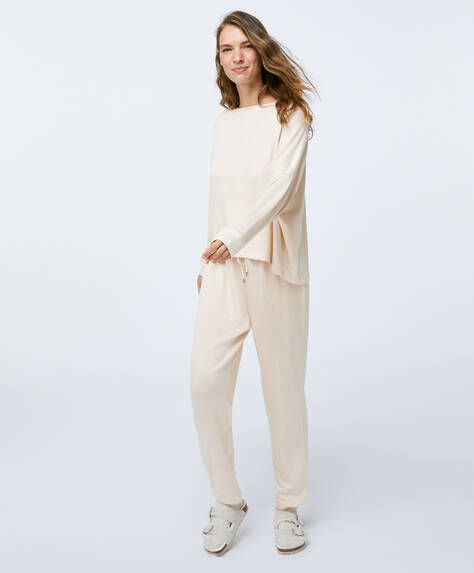 Plain beige trousers