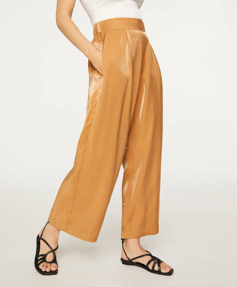 Camelkleurige culotte