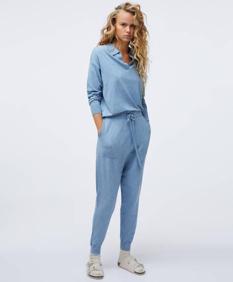 Pantaloni dritti maglia sottile